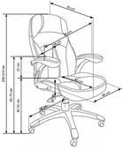 Kancelářská židle Carlos- černá