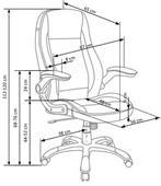 Kancelářská židle Saturn - bílo-černá