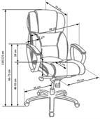 Kancelářská židle Foster - světle hnědá