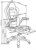 Kancelářská židle Lotus černo-šedá