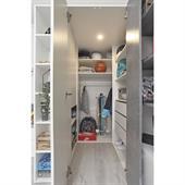 Šatní skříň Sigma 1 - bílý lux / beton