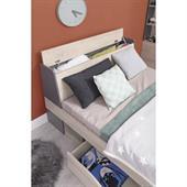 Studentská postel Della 14 - dub / antracit ( 90 x 200 cm )