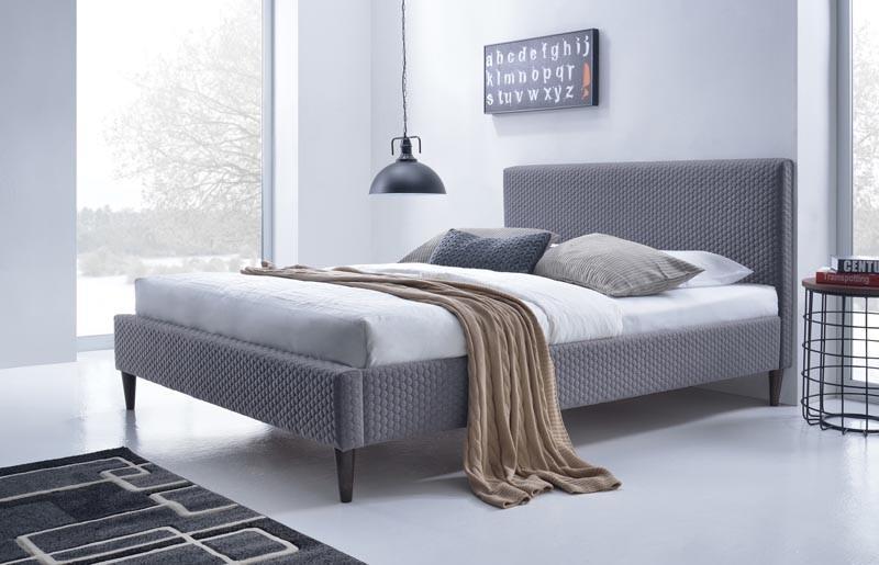Čalouněná postel Flexy 160 x 200 cm - šedá