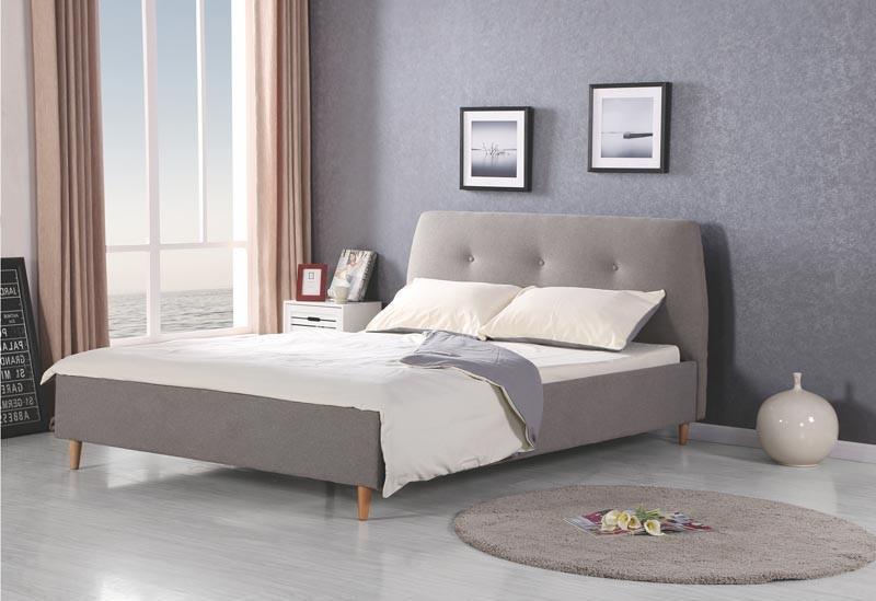 Čalouněná postel Doris 160 x 200 cm - šedá