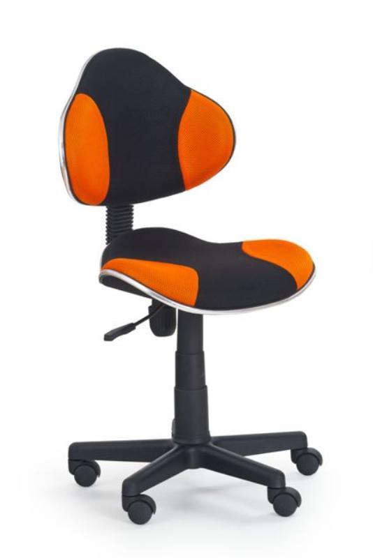 Dětská židle Flip - černo - oranžová