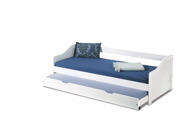 Dětská postel Leona 2 s přistýlkou - bílá