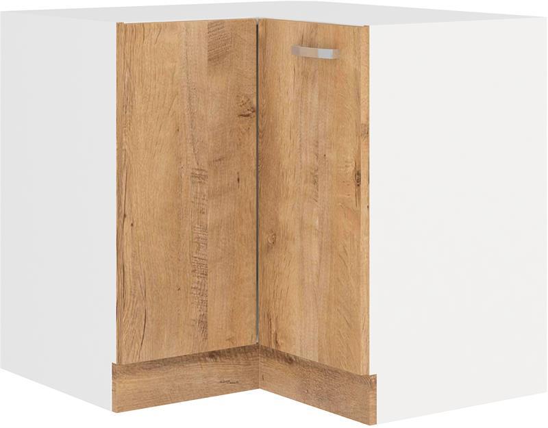Dolní rohová skříňka Šárka 6 bez pracovní desky (89 x 89 cm)