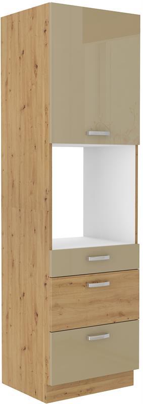 Skříň pro troubu Arisa 38 (60 cm) cappucino lesk
