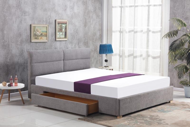Čalouněná postel Merida 160 x 200 cm - světle šedá