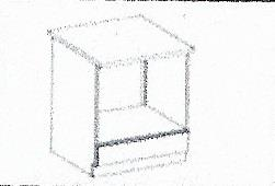 Dolní skříňka pro troubu Olina 5 s pracovní deskou (60 cm)