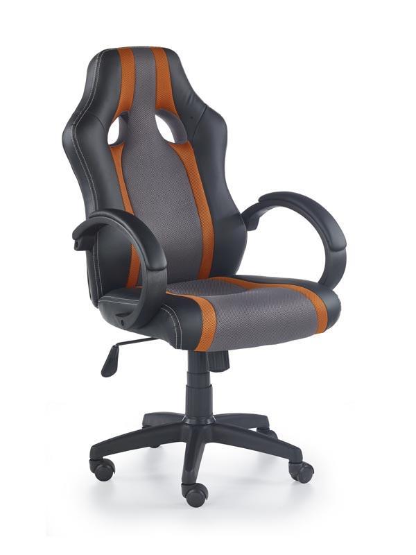 Kancelářská židle Radix šedo-oranžová