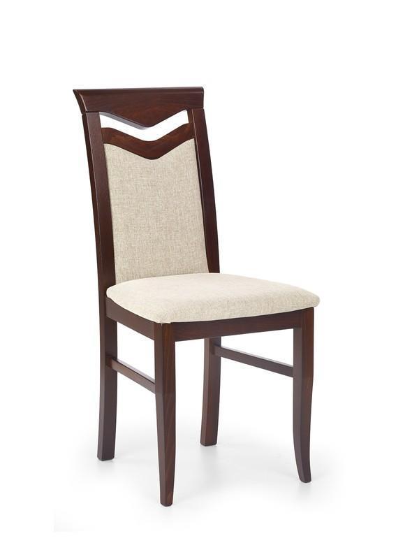 Dřevěná židle Citrone - tmavý ořech