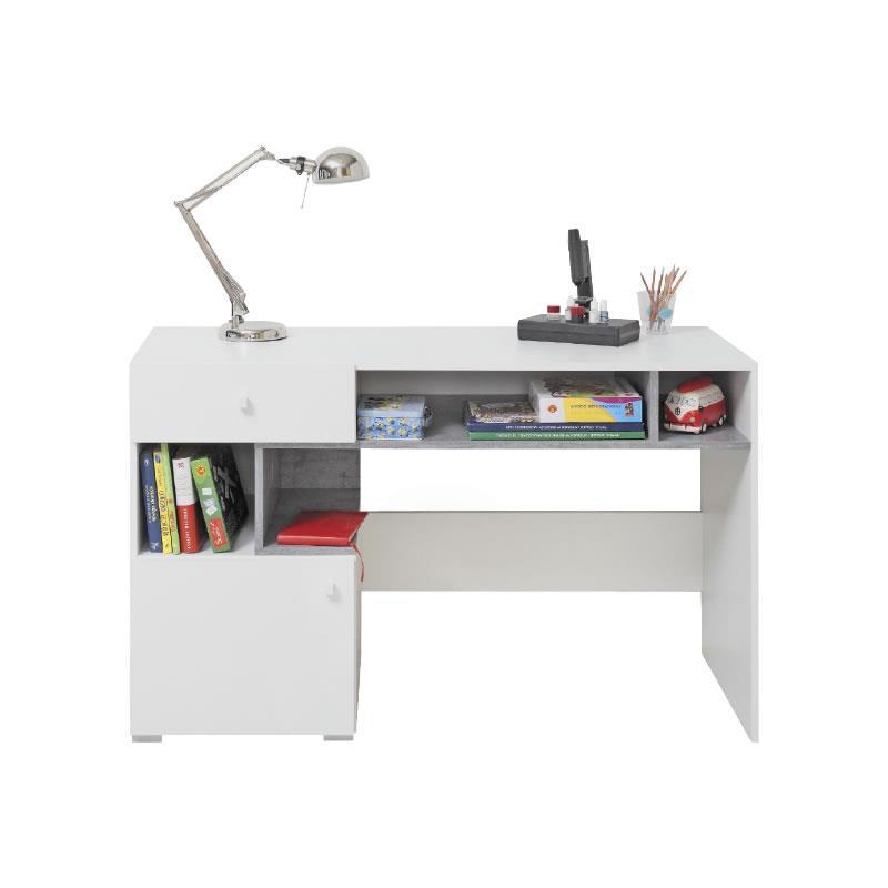 Psací stůl Sigma 10 - bílý lux / beton