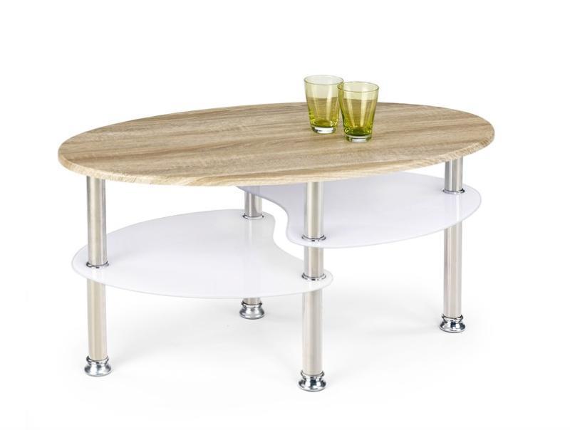 Konferenční stolek MARTINA dub sonoma/extra bílý