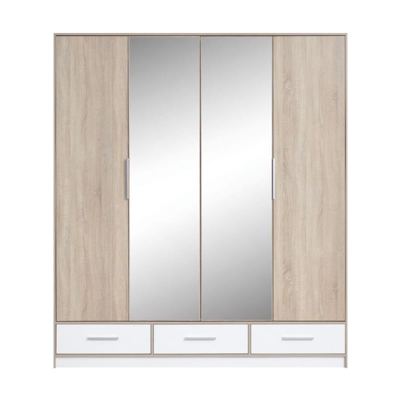 Šatní skříň Isis 1 se zrcadlem - 204 / 230 / 60 cm