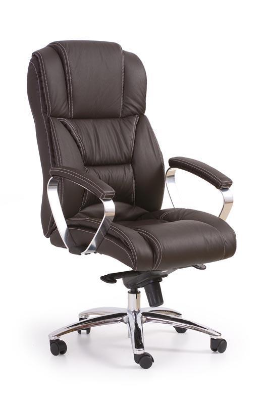 Kancelářská židle Foster - tmavě hnědá