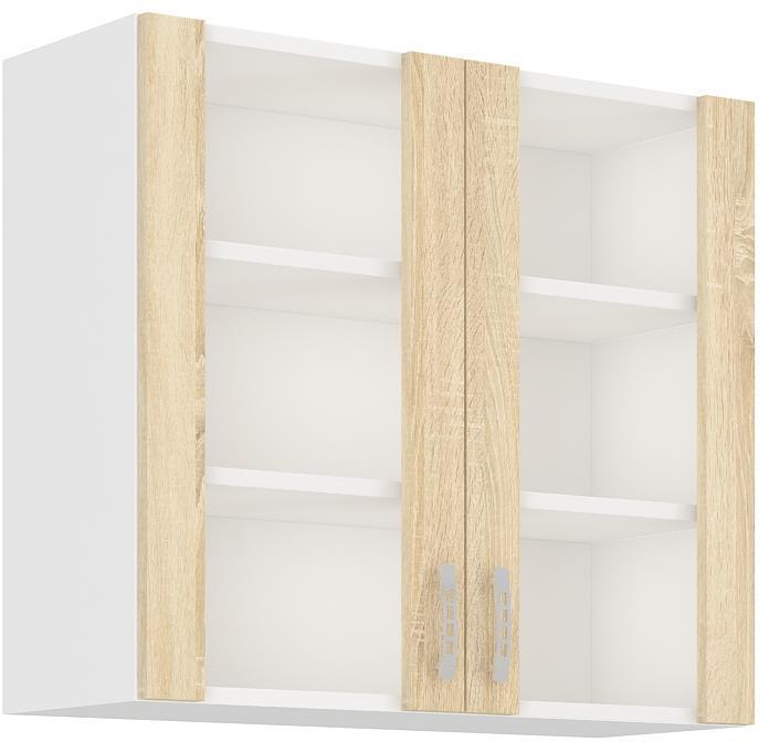 Horní skříňka prosklená Klára 10  (80 cm)