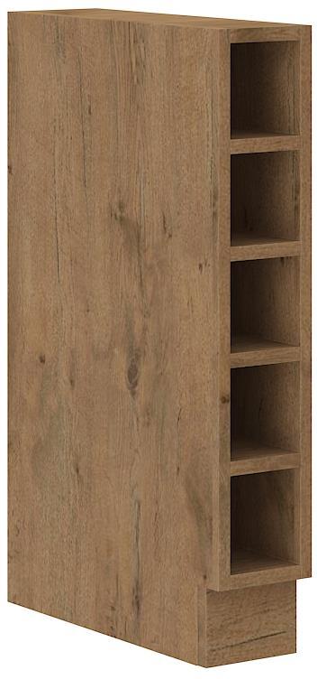 Dolní otevřená skříňka Viktorie grafit mat 27 (15 cm) bez pracovní desky