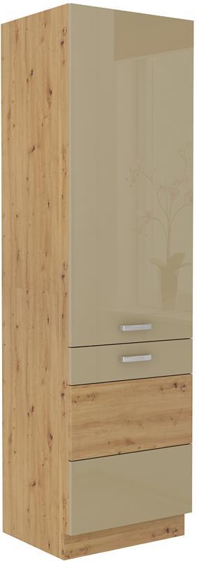 Potravinová skříň Arisa 36 (60 cm) cappucino lesk