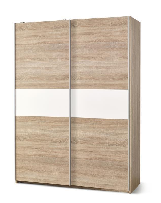 Šatní skříň Limo S-1 dub sonoma / bílá