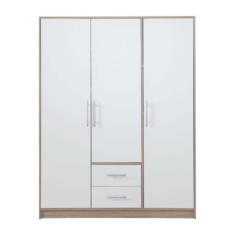 Šatní skříň Simona 2 dub sonoma / bílý lux - 150 / 190 / 56 cm