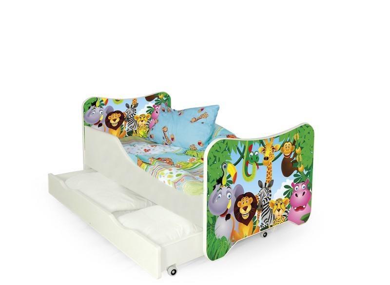 Dětská postel Zvířátka včetně matrace