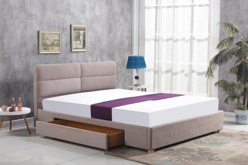 Čalouněná postel Merida 160 x 200 cm - béžová