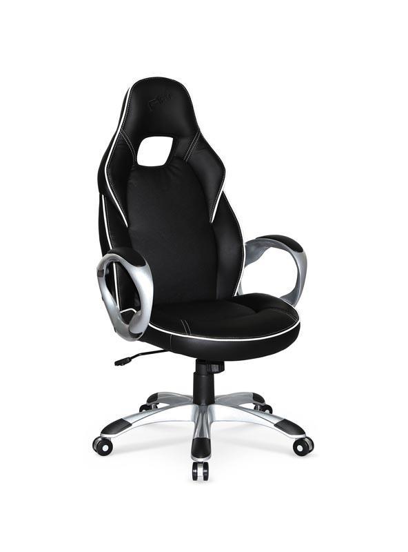 Kancelářské křeslo DELUXE černo-bílé