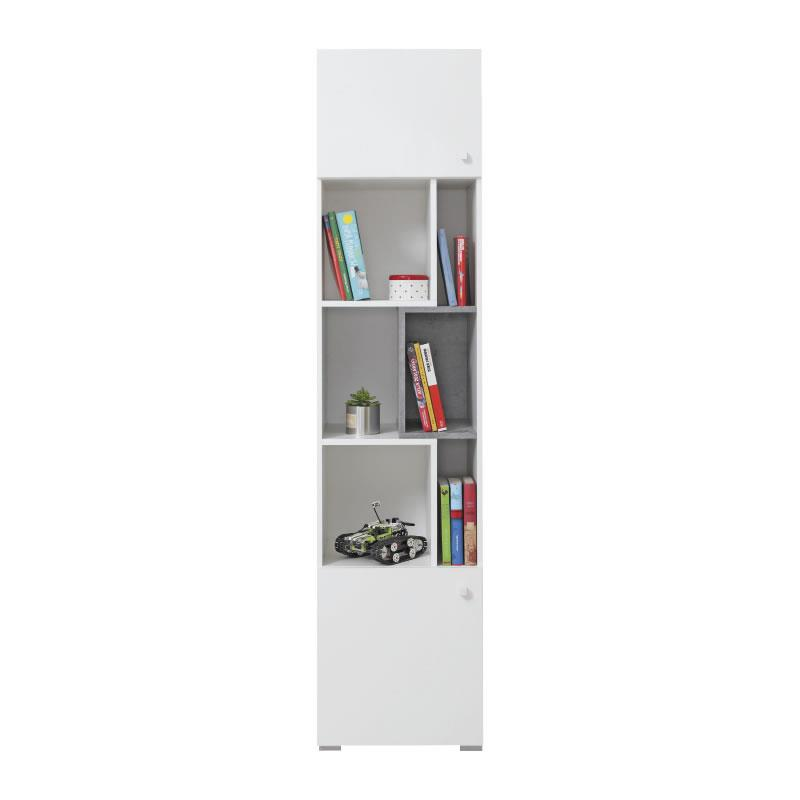Skříň Sigma 6 - bílý lux / beton