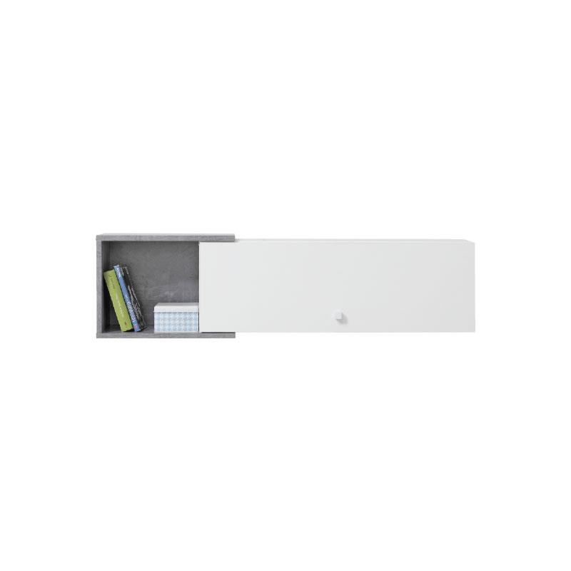 Polička Sigma 13 - bílý lux / beton