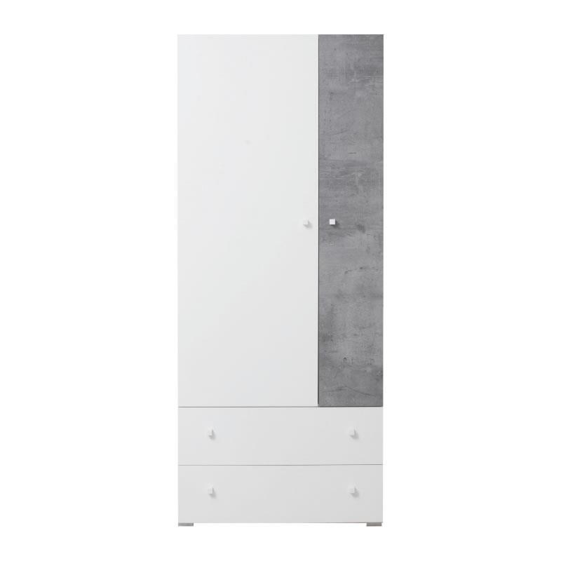 Šatní skříň Sigma 3 - bílý lux / beton