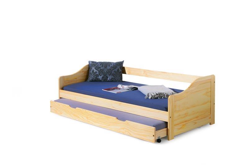 Dětská postel Laura s přistýlkou - borovice