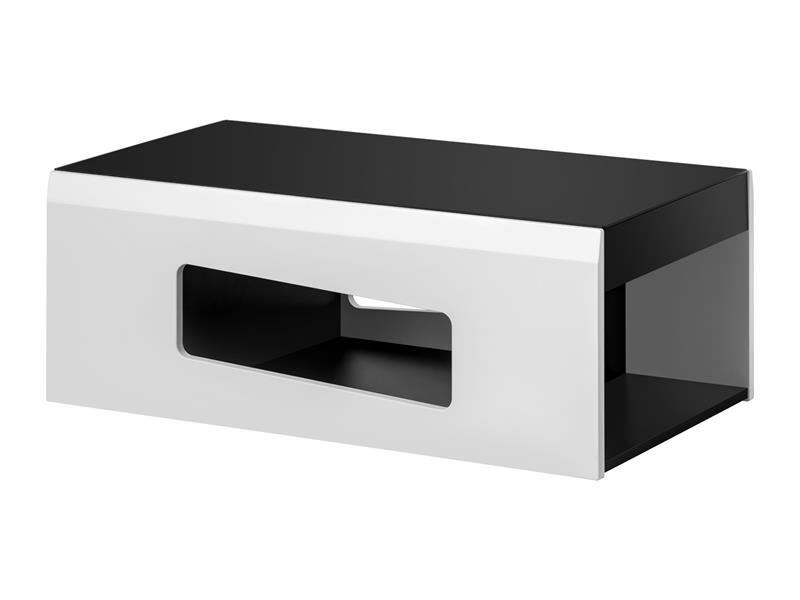 Konferenční stolek Rake - černá / bílá