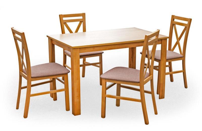 Dřevěný jídelní set Karolína 1 + 4 židle medová olše