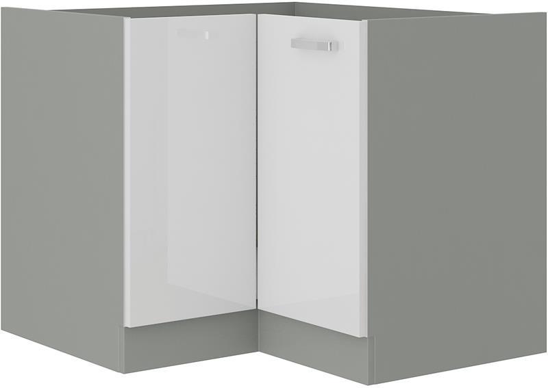 Dolní rohová skříňka Blanka 9 bez pracovní desky (89/89 cm)
