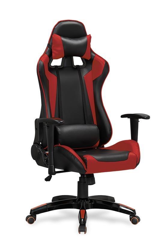 Kancelářská židle Defender černo-červená