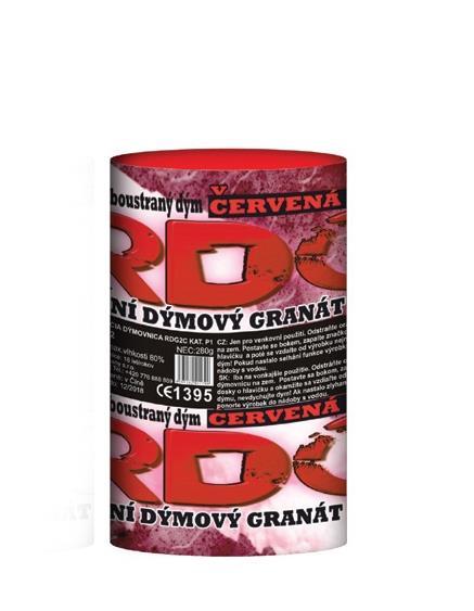 Dýmový granát červený 3