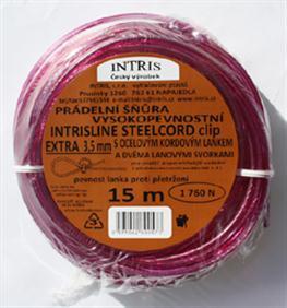 Vysokopevnostní šňůra na prádlo s ocelovým lankem INTRISLINE STEELCORD EXTRA 3,5 mm