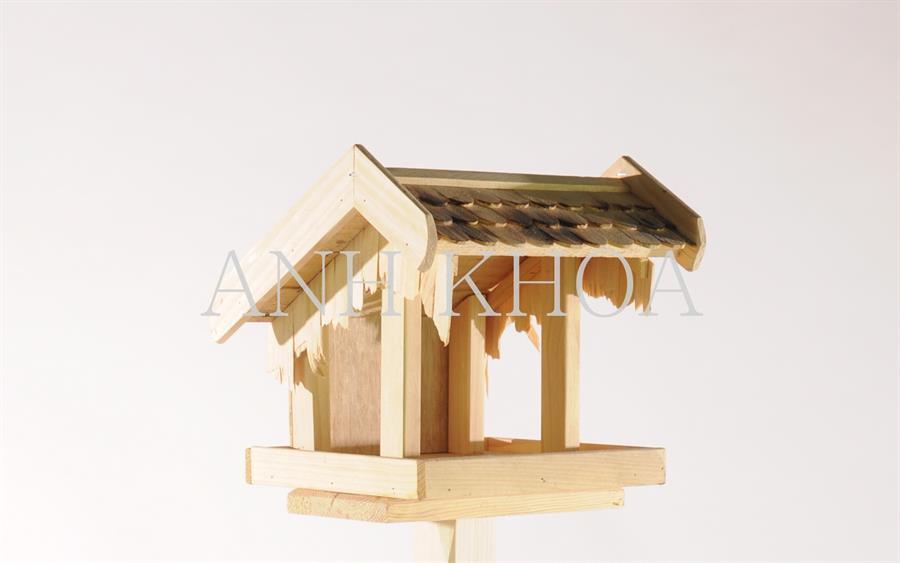 vogelhaus aus holz garten holz dekoration. Black Bedroom Furniture Sets. Home Design Ideas