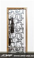 Celoskleněné dveře s grafikou