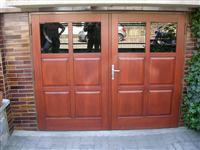 garážové vrata , dub