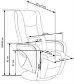 Odpočinkové křeslo Pull rozkládací s funkcí masáže - šedé