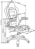 Kancelářská židle Lotus černo-červená