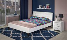 Luxusní čalouněná postel Samanta - eko kůže černá nebo bílá