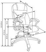 Kancelářská židle Desmond - béžová