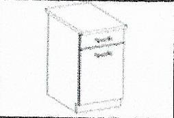 Dolní skříňka Daniela 4 s pracovní deskou (40 cm)