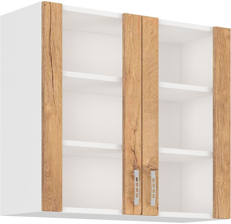 Horní skříňka Šárka 10 prosklená ( 80 cm )