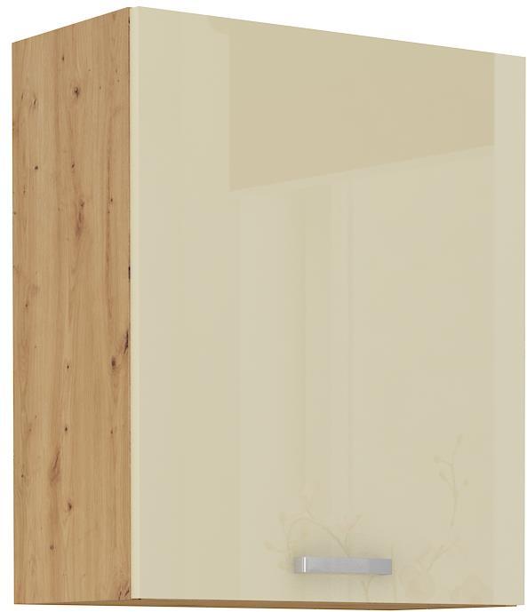 Horní skříňka Arisa 14 (60 / 72 cm) krémový lesk