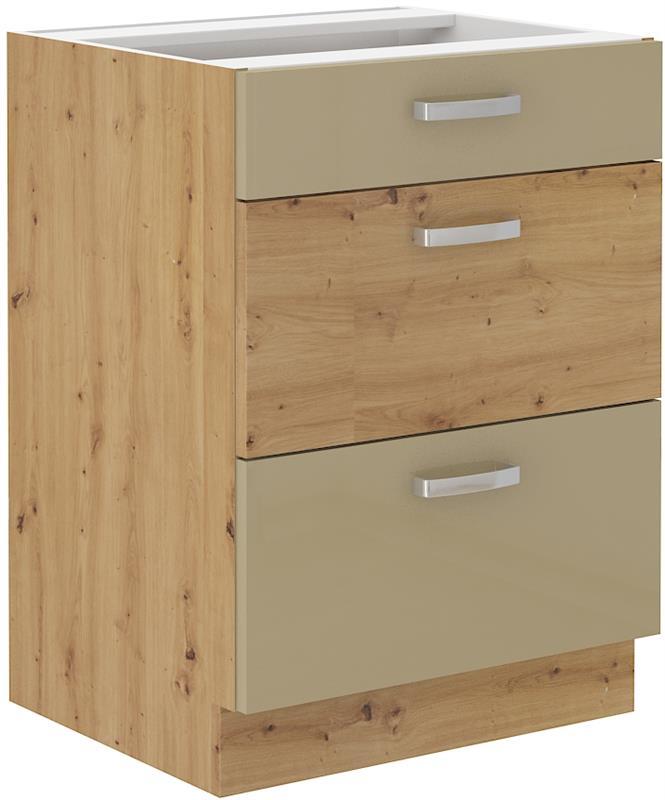 Dolní skříňka Arisa 5 (60 cm) cappucino lesk bez pracovní desky
