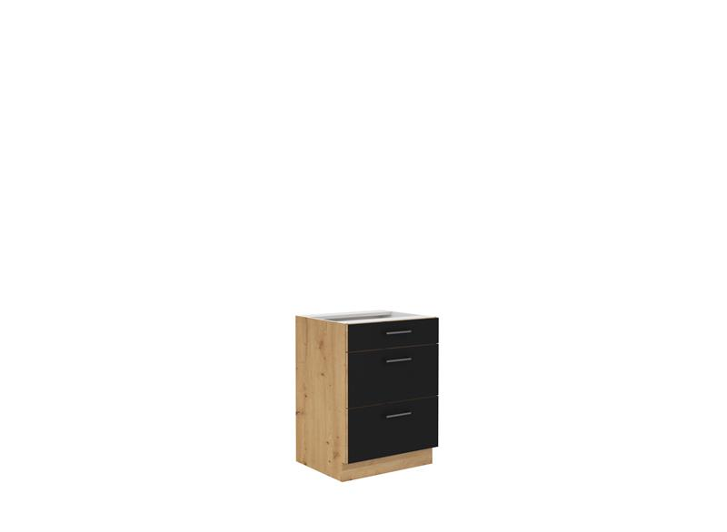 Dolní skříňka Moderna 6 (60 cm) černý mat